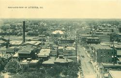 BIRD'S-EYE-VIEW OF AURORA, ILL.
