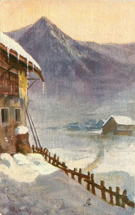 alpine inn in the snow (untitled, title taken from 7502)