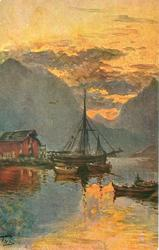 MIDNIGHT SUN AT RAFTSUND