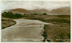 SALACHAN RIVER WITH GLEN COE IN THE DISTANCE