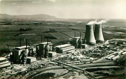 THE WORLD'S FIRST FULL SIZE ATOMIC POWER STATION  distant view