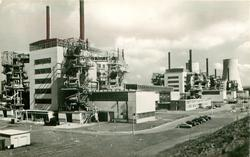 SHOWING 'A' AND 'B' WITH POWER STATION 'B' NEARING COMPLETION. MAY, 1958