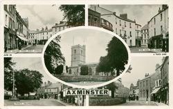 5 insets, THE SQUARE FROM WEST STREET/THE OLD BELL HOTEL/THE CHURCH/TRINITY SQUARE/WEST STREET