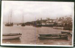 HIGH TIDE, two boats framing the foreground