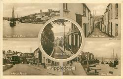 5 insets TOWER HILL & RIVER/BUDE STREET/MEETING STREET/MARINE PARADE/ QUAY SIDE