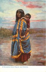 A HAVASUPAI INDIAN SQUAW AND PAPOOSE