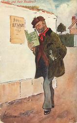 SELF HELP SMILES  burglar reads as he walks by a REWARD poste