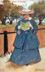 THE MIGHT ATOM MARIE CORELLI  large lady reads as she walks