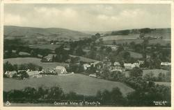 GENERAL VIEW OF BRECHFA, view to the left of hill