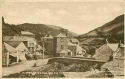 BOSCASTLE BRIDGE AND THE VALLEY ROAD
