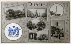 embossed crest, 6 insets DUBLIN CASTLE & CHAPEL ROYAL/SACKVILLE STREET/THE PHOENIX MONUMENT/STEPHEN GREEN PARK/BANK OF IRELAND/O'CONNELL MONUMENT