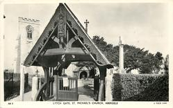LYTCH GATE, ST. MICHAEL'S CHURCH, (Tuck error for LYCH GATE)