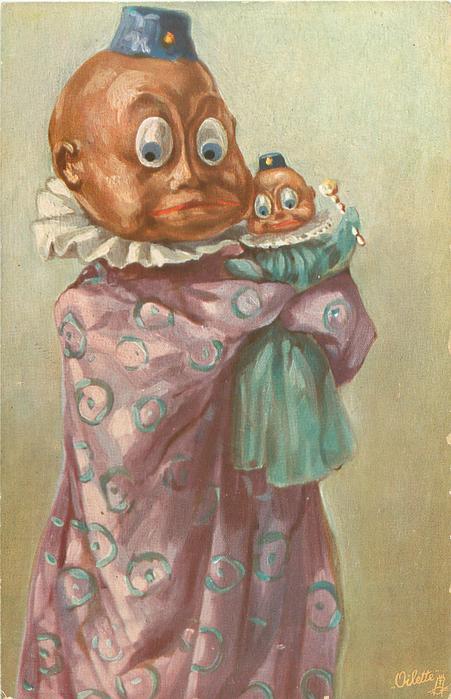 mannequin cuddles baby