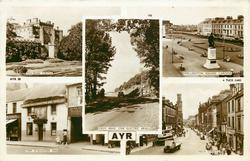 5 insets  CULZEAN CASTLE/CROY BRAE (THE ELECTRIC BRAE)/WELLINGTON SQUARE GARDENS/TAM O' SHANTER INN/HIGH STREET
