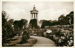 BURNS' MONUMENT FROM THE FLOWER GARDENS