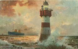 ROTESANDLEUCHTTURM VOR DER WESERMUNDUNG lighthouse