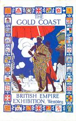 BRITISH EMPIRE EXHIBITION, WEMBLEY symbolic painting surrounded by tiny insets