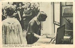 THEIR MAJESTIES QUEEN MARY AND QUEEN ELENA OF ITALY, RHODESIA... EXHIBITION