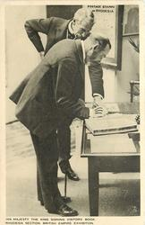 HIS MAJESTY THE KING SIGNING VISITORS BOOK, RHODESIA SECTION... EXHIBITION
