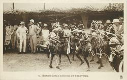 BUNDU GIRLS DANCING AT FREETOWN