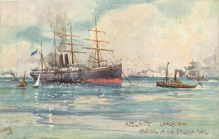 LARGS BAY,  ARRIVAL OF THE ENGLISH MAIL