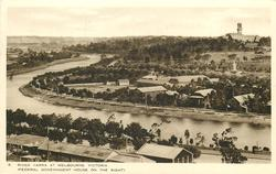 RIVER YARRA AT MELBOURNE, VICTORIA (FEDERAL GOVERNMENT HOUSE ON THE RIGHT)