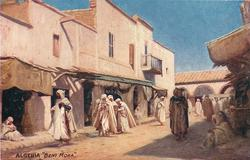 """""""BENI MORA"""" (people walking mostly on left, one balcony in background)"""