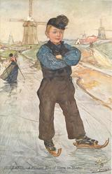 A PEASANT BOY OF VERRE ON SKATES
