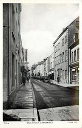 KING STREET row of automobiles distant