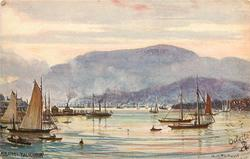 HOBART (view of town and Mount Wellington from Bellrive)