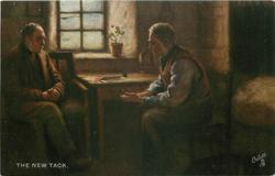 two old men sit at table