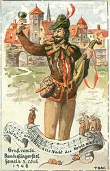 GRUK VOM 56 BUNDESFANGERFEST HAMELN 3-5 JULI 1908