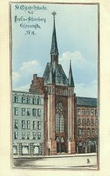 ST. ELISABETHKIRTHE R/VU. BERLIN-SCHONBERG, COLLONNRNSTR. N: 38