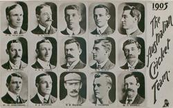 small portraits of fifteen cricketers