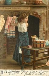A HAPPY NEW YEAR TO YOU   A  LITTLE LAUNDRY MAID
