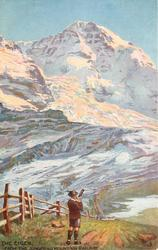 THE EIGER, FROM THE JUNGERAU MOUNTAIN RAILWAY