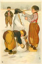 Dutch boys dress snowman