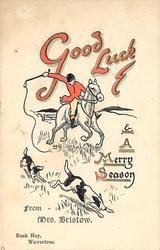 GOOD LUCK AND A MERRY SEASON  huntsmen & hounds