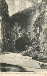 CAVE BENEATH VIADUCT (SHOWING 320 FEET TOWER)