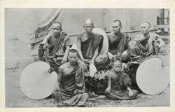 "GROUP OF ""POONGYIS"" BUDDHIST PRIESTS"