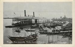 RANGOON, RIVER IRRAWADDY, FLOTILLA STEAMERS ALONGSIDE