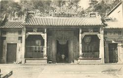 A JOSS HOUSE, SHOWING ROOF ORNAMENTATION SIMILAR TO THAT OF// AT WEMBLEY