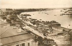 VIEW OF THE BUND, THE LAWNS, SHIPPING & RIVER