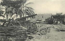 TURKISH CAPTURED GUNS, BASRA