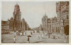 VIEW OF VICTORIA TERMINUS & MUNICIPAL BUILDING