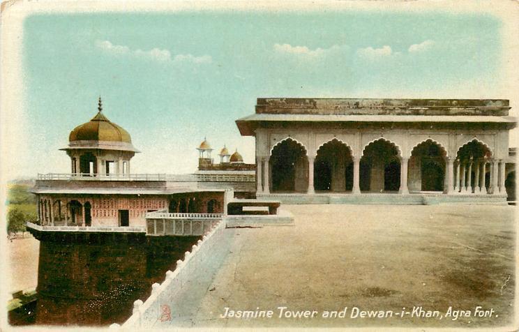 JASMINE TOWER AND DEWAN-I-KHAN, AGRA FORT