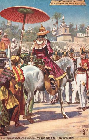 THE SURRENDER OF RANGOON TO THE BRITISH 1824