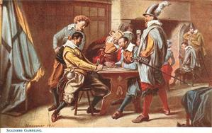 SOLDIERS GAMBLING
