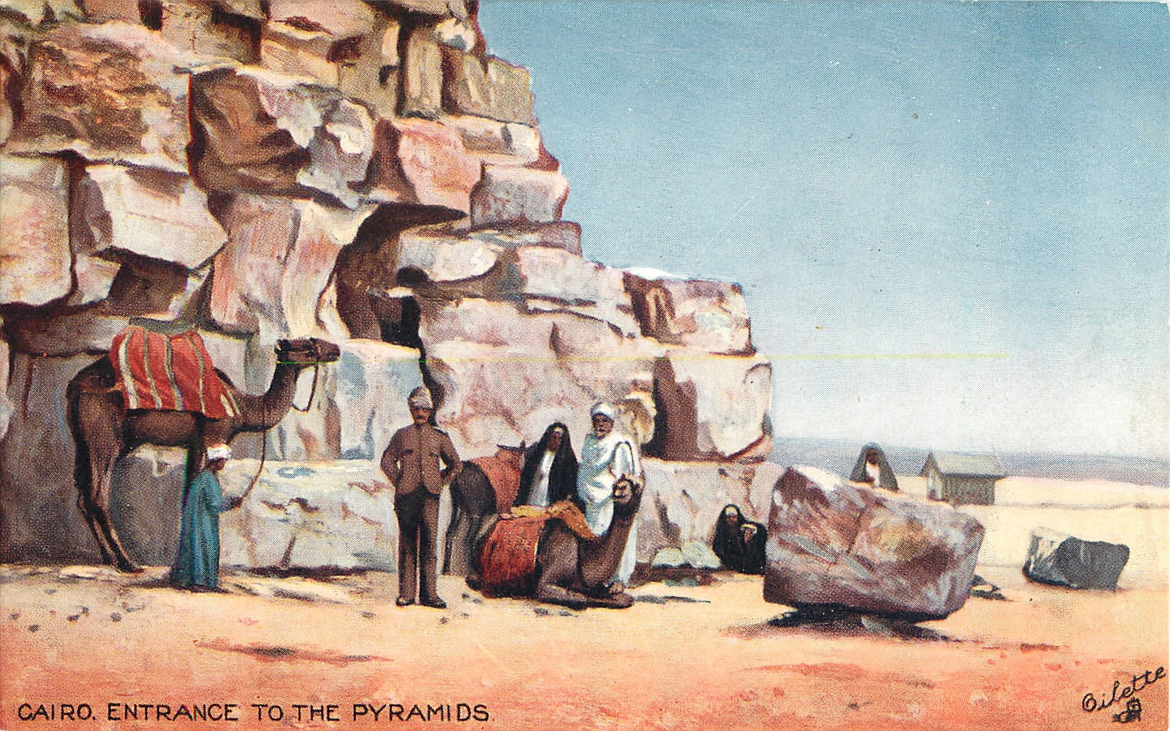 CAIRO, ENTRANCE TO THE PYRAMIDS