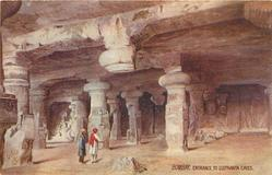 ENTRANCE TO ELEPHANTA CAVES